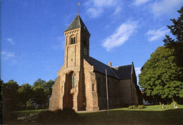 De Driekoningenkerk in Noordgouwe, ten tijde van de hagenpreken nog een katholieke kerk. (Beeldbank Gemeentearchief Schouwen-Duiveland)