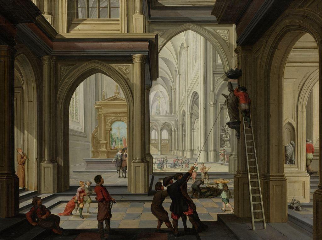 De Beeldenstorm door Dirck van Delen, 1630 (Collectie Rijksmuseum, Amsterdam)