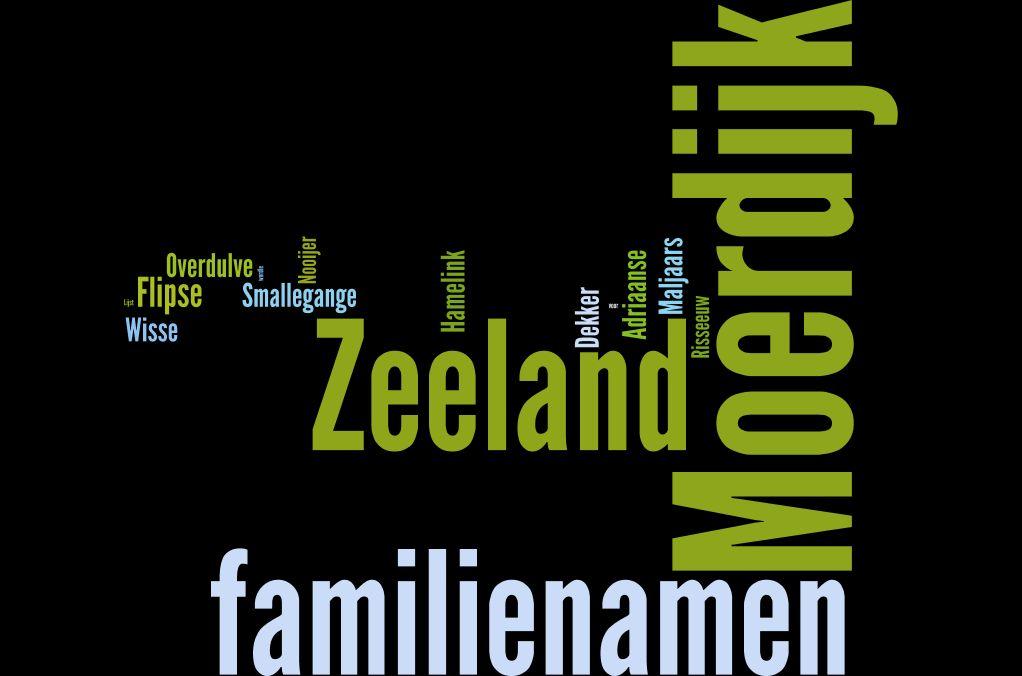 De naam Moerdijk komt vaak voor in Zeeland.