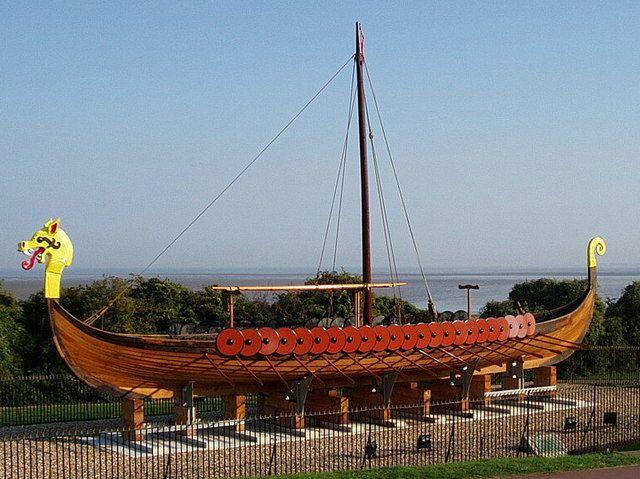 Replica Vikingschip de 'Hugin', Ramsgate (Verenigd Koninkrijk). (Foto Peter Lelliott)