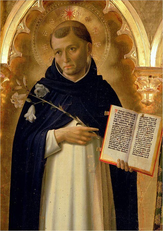 Portret van Dominicus Guzman, stichter van de orde, door Fra Angelico (1437).