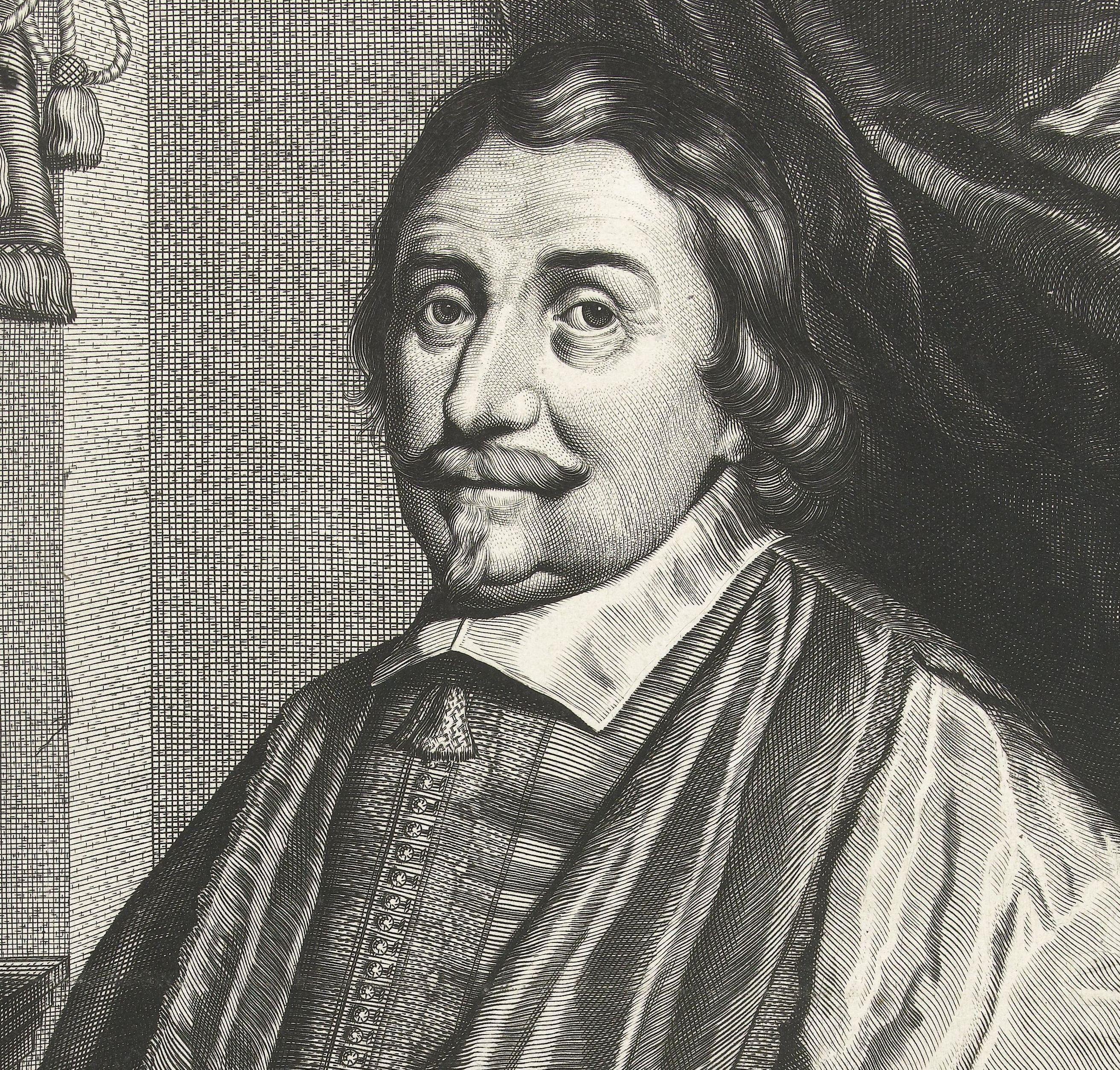 Portret van Cornelis Stavenisse. Kopergravure door Hendrick Danckertsz. (Collectie Rijksmuseum)