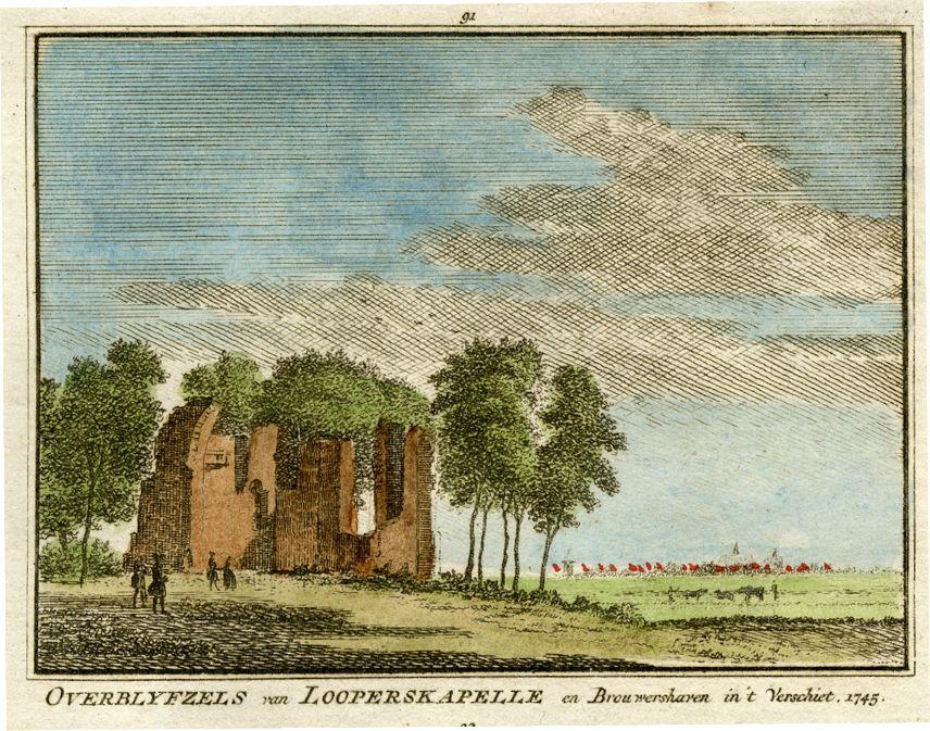 Looperskapelle - overblijfselen 1745