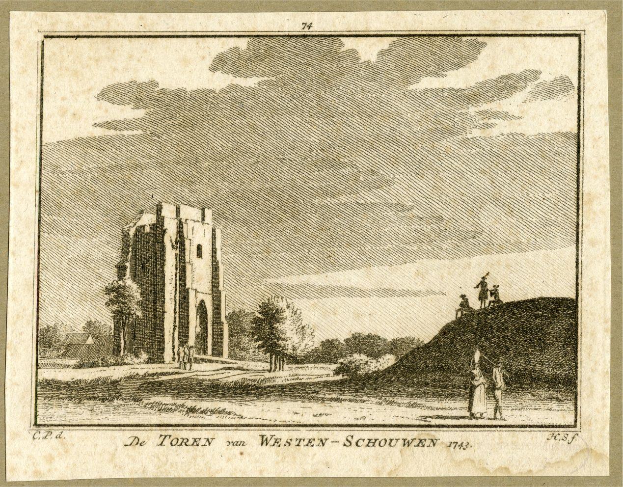 Havenbuurt van Westenschouwen 1743