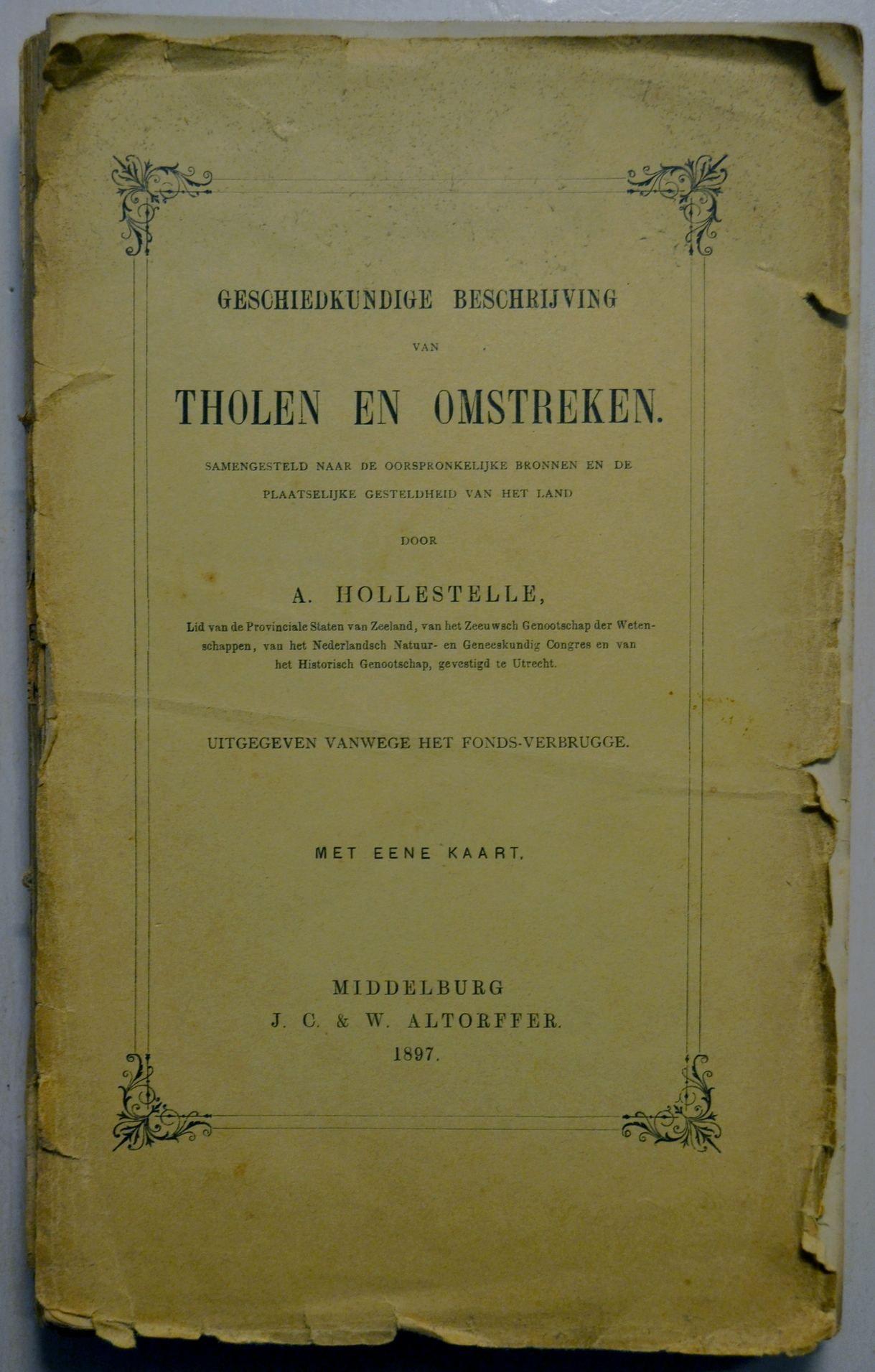 Omslag van Adriaans Tholen-monografie. (foto H.M.D. Dekker)