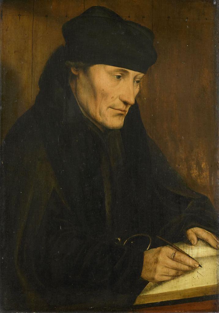 Portret van Erasmus, kopie naar Quinten Massijs, na circa 1535. (Collectie Rijksmuseum)