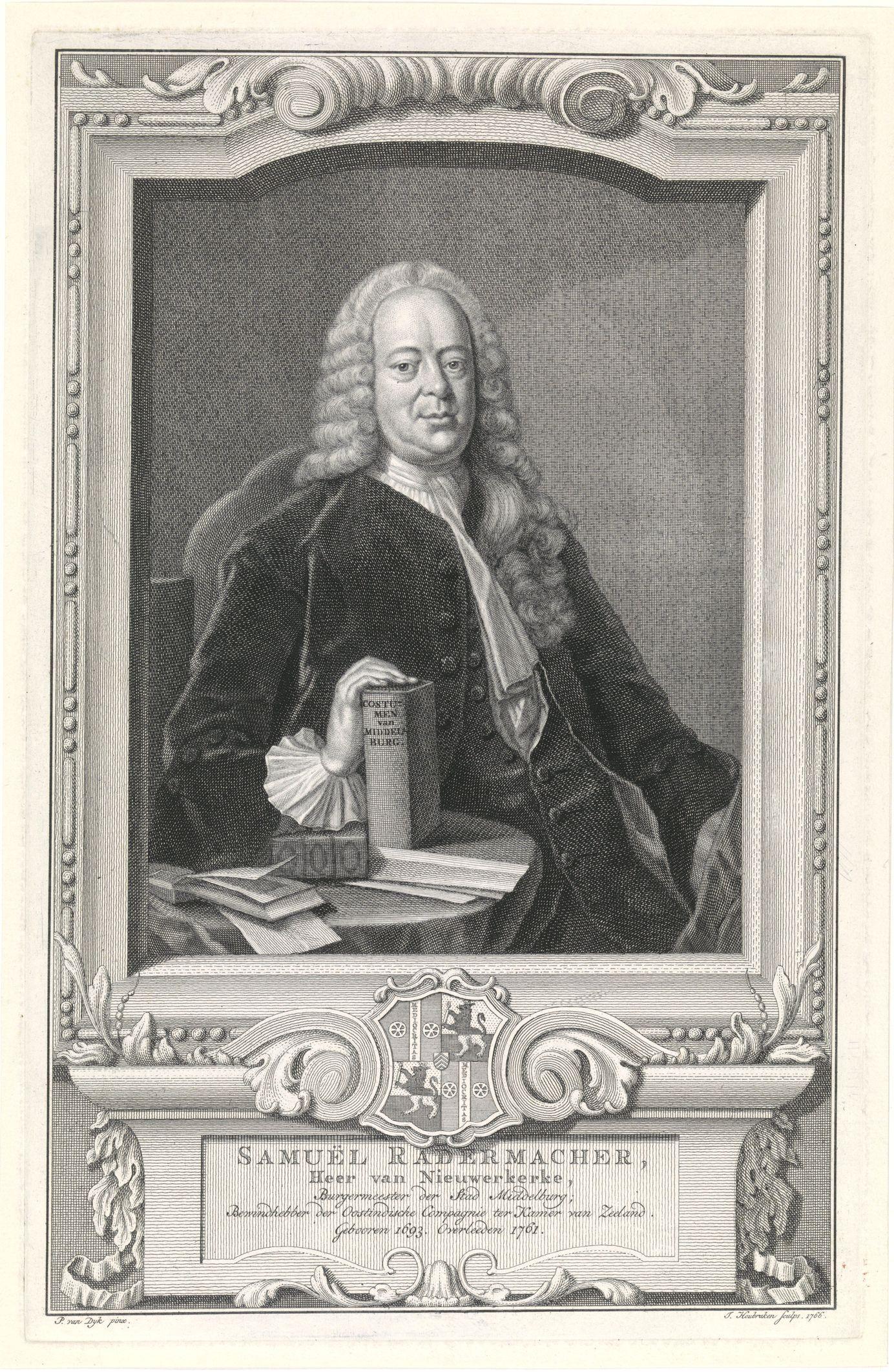 Portret van Samuel Radermacher