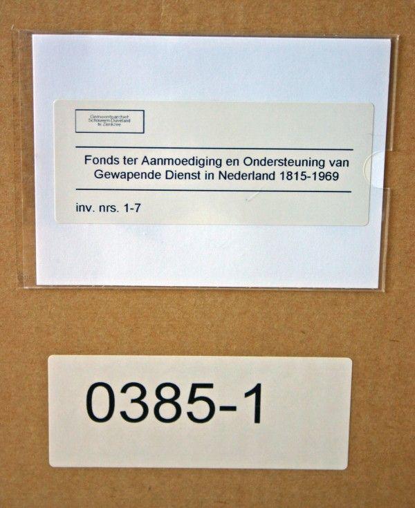 Het archief van de districtscommissie Noord-Zeeland van het Fonds 1815 wordt bewaard in het Gemeentearchief Schouwen-Duiveland.