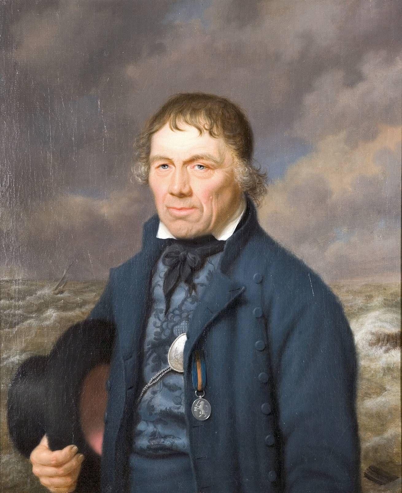 Portret van Naerebout door J.P. Bourje, voor 1817. (MuZEEum, coll. KZGW)