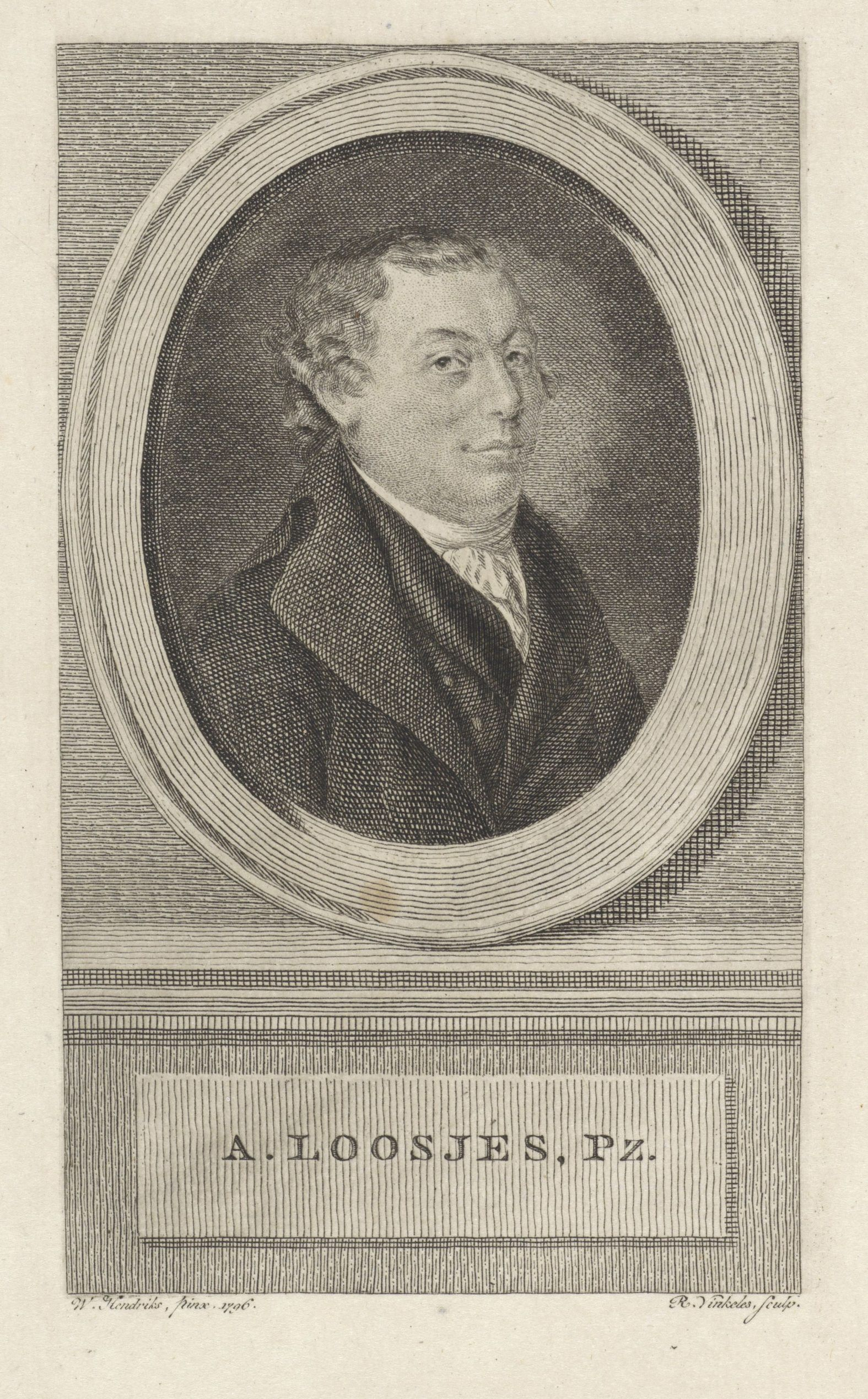 Adriaan Loosjes in 1796 (Reinier Vinkeles)
