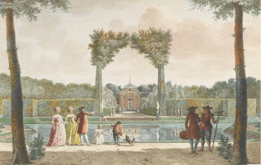 Achterzijde van Sint Jan ten Heere, derde kwart 18de eeuw. (Zeeuws Archief, coll. Zeeuws Genootschap, tekening Jan Arends)