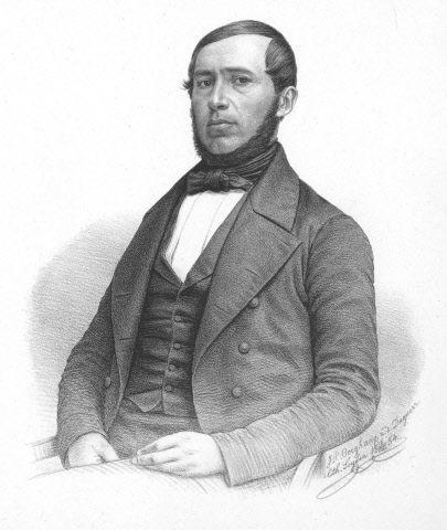 Lieven Leendert Bolle, 1854, daguerreotypie door J.P. Berghaus. (Beeldbank Gemeentearchief Schouwen-Duiveland)