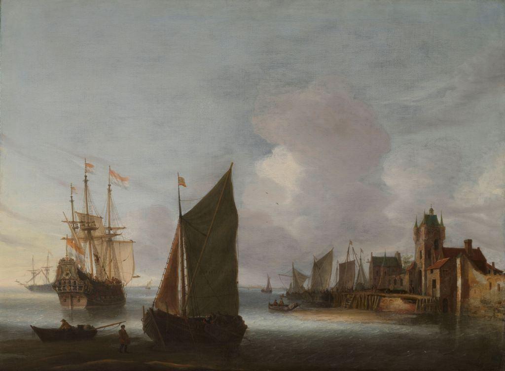 Schepen op de Oosterschelde, vóór Zierikzee. Schilderij door Hendrick van Anthonissen, circa 1650. (Collectie Rijksmuseum)
